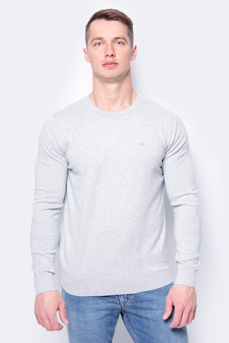 Джемпер мужской Calvin Klein Jeans, цвет: серый. J30J306941_0350. Размер XXL (52/54) джемпер мужской calvin klein jeans цвет черный j30j306946 0990 размер xxl 52 54