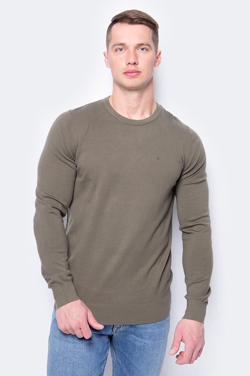 Джемпер мужской Calvin Klein Jeans, цвет: зеленый. J30J306941_3710. Размер XXL (52/54) джемпер мужской calvin klein jeans цвет черный j30j306946 0990 размер xxl 52 54
