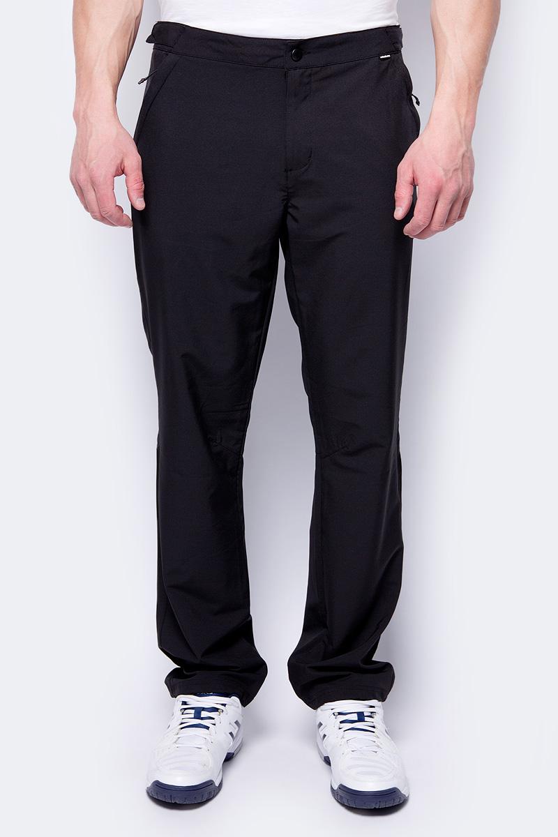 Брюки мужские Rukka, цвет: черный. 979364253RV_990. Размер XL (54)979364253RV_990Брюки от Rukka выполнены из эластичногополиэстера. Модель в поясе застегивается на кнопку и имеет ширинку на молнии. По бокам и сзади брюки дополнены карманами на молниях.