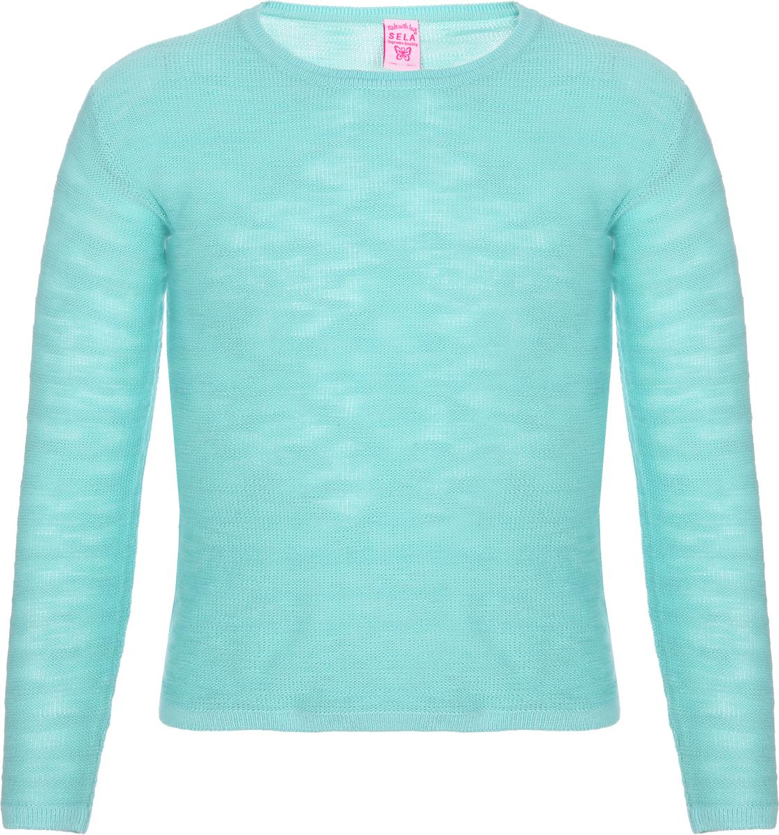 Джемпер для девочки Sela, цвет: мятный. JR-614/972-8161. Размер 128 цена