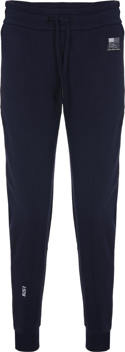 Брюки женские Calvin Klein Jeans, цвет: синий. J20J206907_4960. Размер XS (40/42) zengli mens denim cargo shorts jeans casual vintage blue pockets biker jeans summer knee length denim shorts 40 42 44 46 48