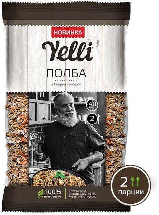 Yelli Полба с белыми грибами, 110 г вафли вкус топленое молоко коровка 150г