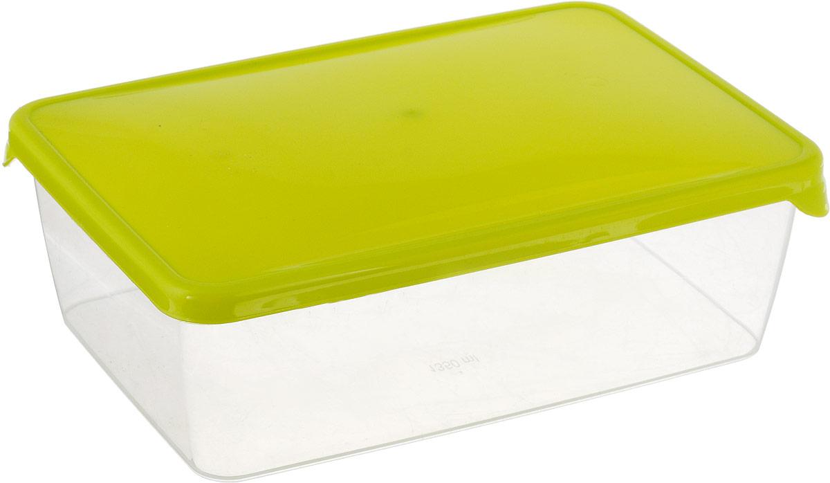 Емкость для продуктов Giaretti Браво, цвет: салатовый, 1,35 л емкость для продуктов idea деко круглая цвет салатовый 0 5 л