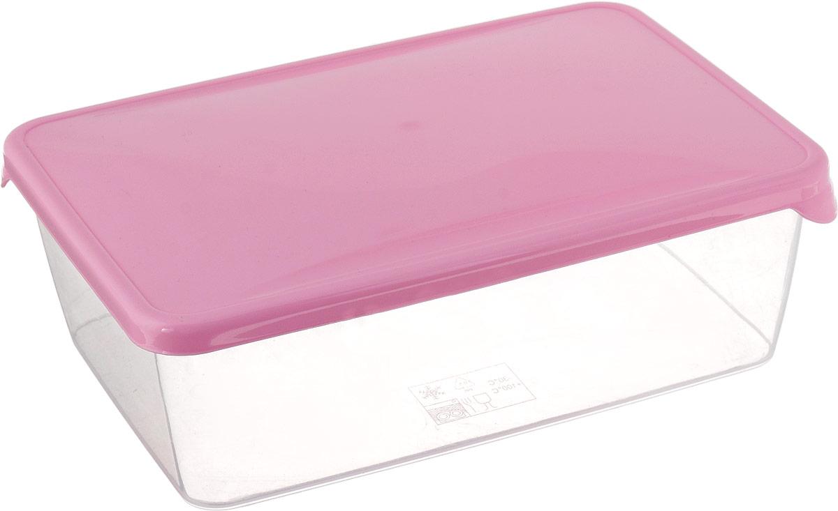 """Емкость для продуктов Giaretti """"Браво"""", цвет: розовый, 1,35 л"""