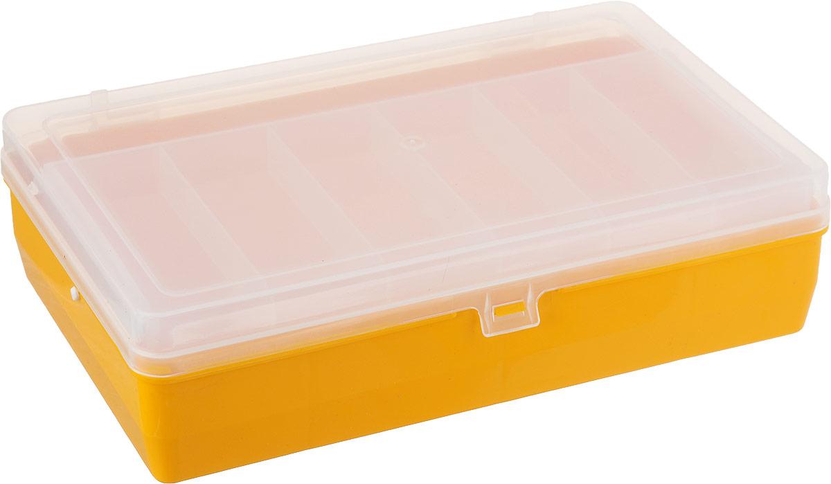 Коробка для крючков и насадок Trivol, двухъярусная, с микролифтом, 23 х 15 х 6,5 см