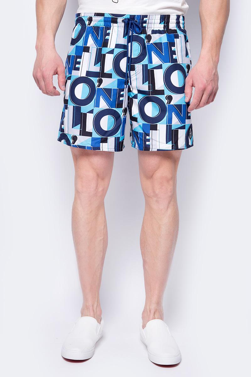 Шорты мужские ONeill Pm Sunstroke Shorts, цвет: синий, белый, черный. 8A3601-5900. Размер XL (52/54)8A3601-5900Пляжные шорты от ONeill выполнены из 100% полиэстера. Материал быстро сохнет. Модель с эластичной резинкой на талии и регулируемым шнурком сзади дополнена накладным карманом с клапаном.