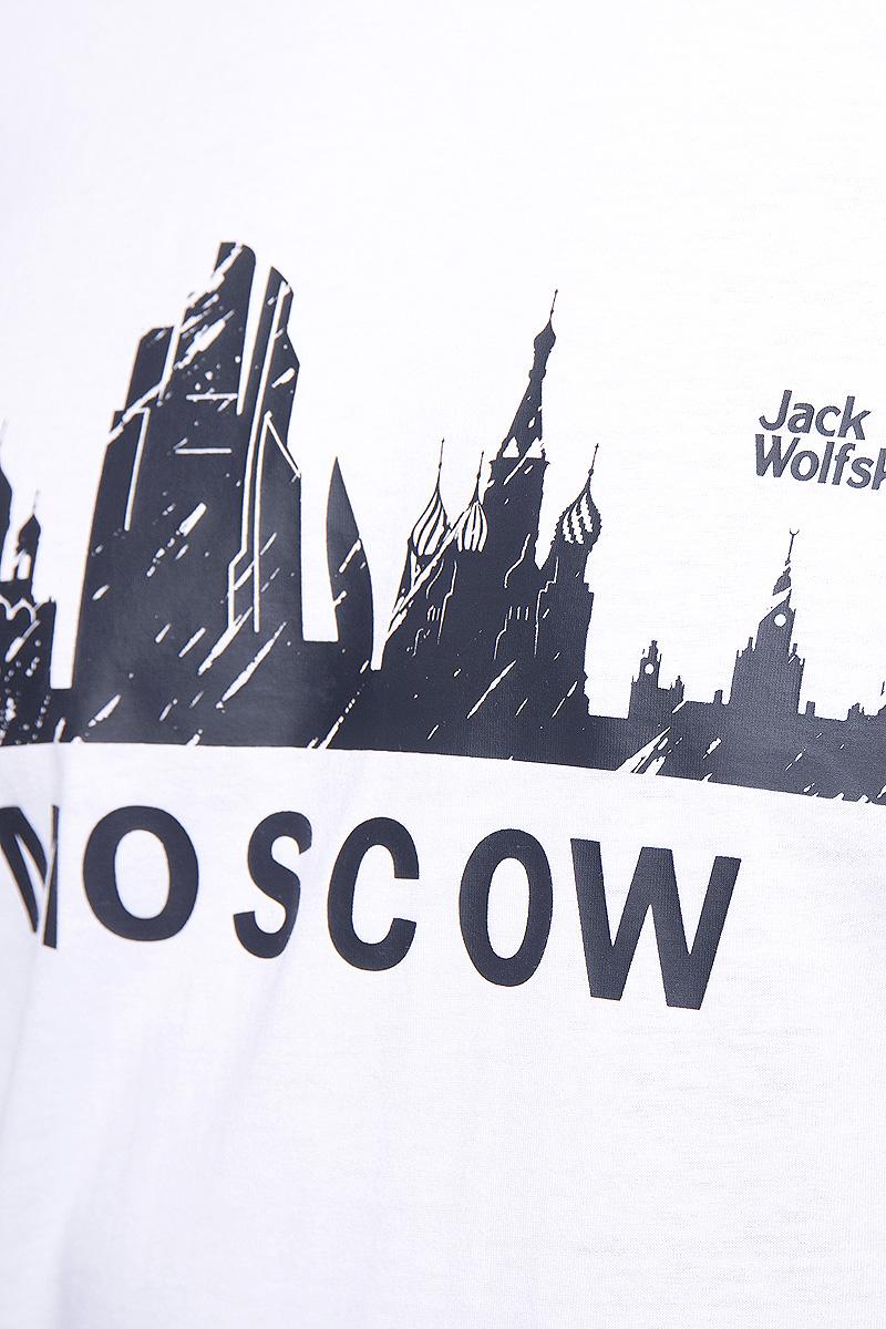 Футболка мужская Jack Wolfskin Moscow, цвет:  белый.  5017131-5018.  Размер XXL (54) Jack Wolfskin