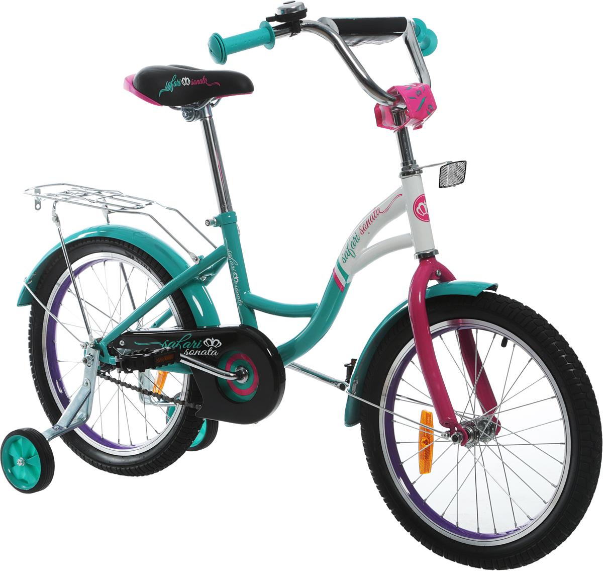 Велосипед детский Safari  Proff Sonata , двухколесный, цвет: бирюзовый, колесо 18  - Детские велосипеды