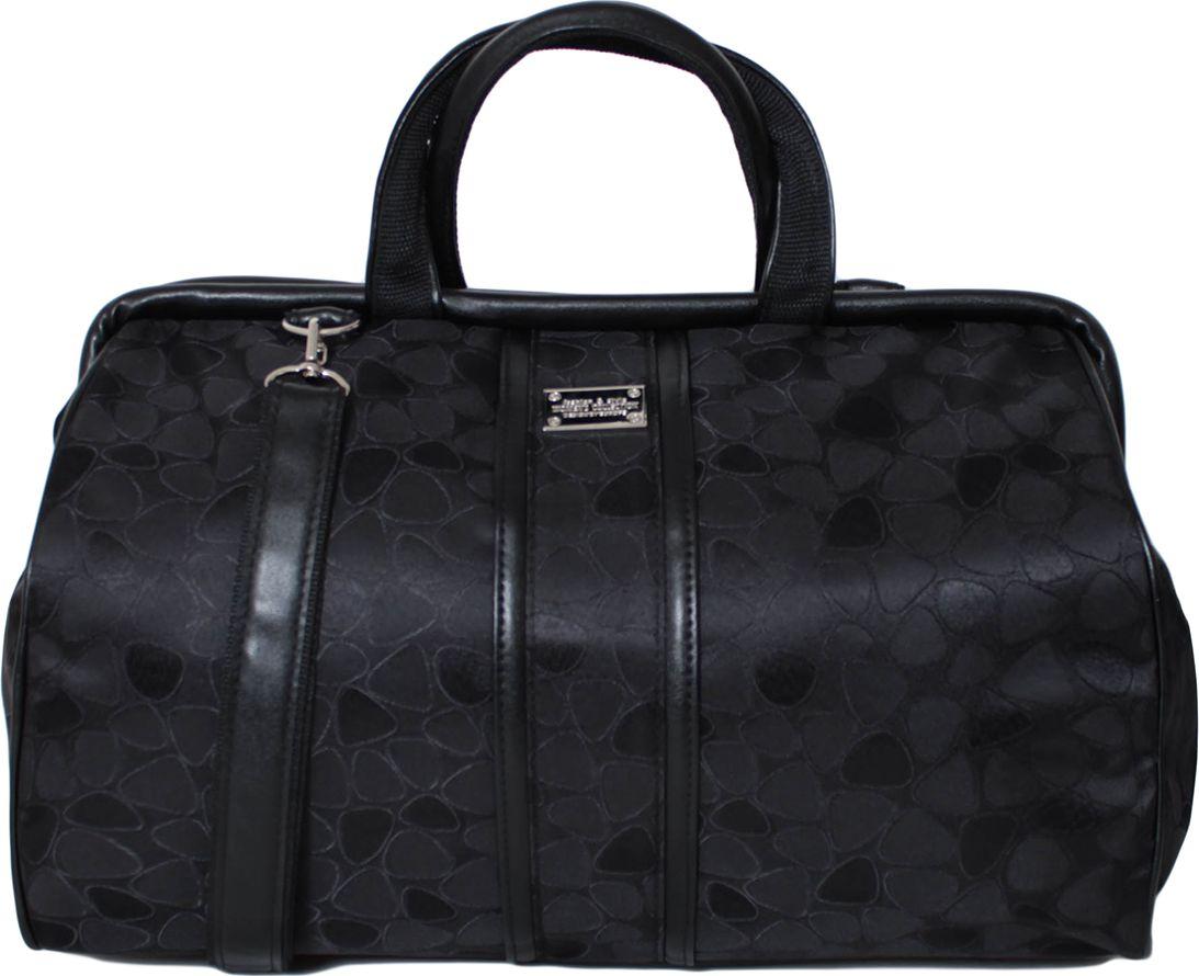 Сумка спортивная женская Leighton, цвет: черный. 3-1203-120Закрывается на молнию. Внутри одно отделение, карман на молнии, один открытый карман. Снаружи один карман на молнии. Наплечный ремень. Высота ручек - 13 см.