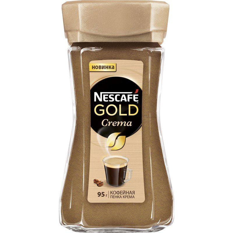 Nescafe Gold Crema кофе растворимый, 95 г nescafe gold 100