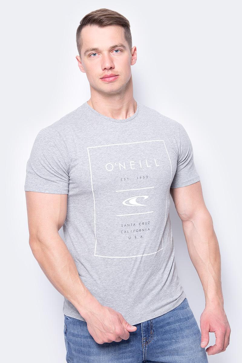 Футболка мужская ONeill Lm True Surf T-Shirt, цвет: серый. 8A3610-8001. Размер M (48/50)8A3610-8001Мужская футболка от ONeill выполнена из натурального хлопка. Модель с короткими рукавами и круглым вырезом горловины на груди оформлена фирменным логотипом ONeill.
