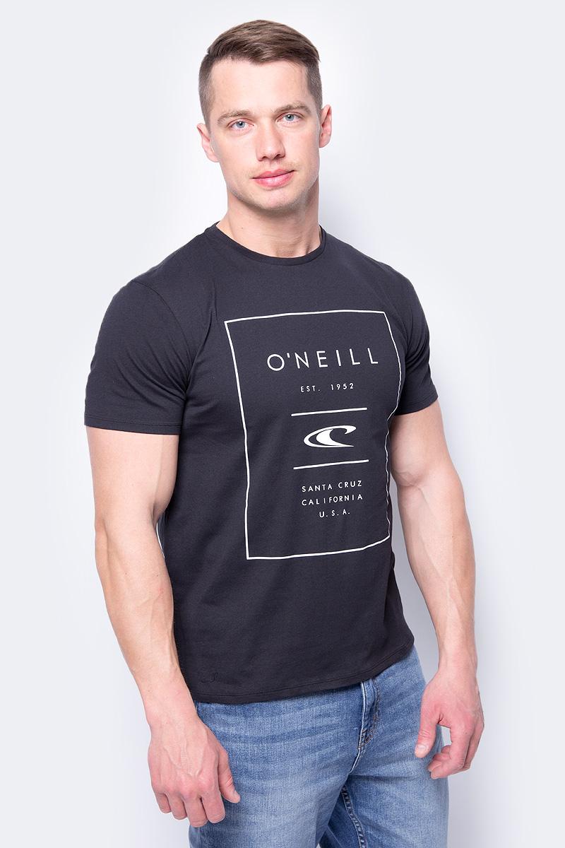 Футболка мужская O'Neill Lm True Surf T-Shirt, цвет: черный. 8A3610-9010. Размер XXL (54/56) футболка мужская mitre цвет желтый tt29019 размер xxl 54 56