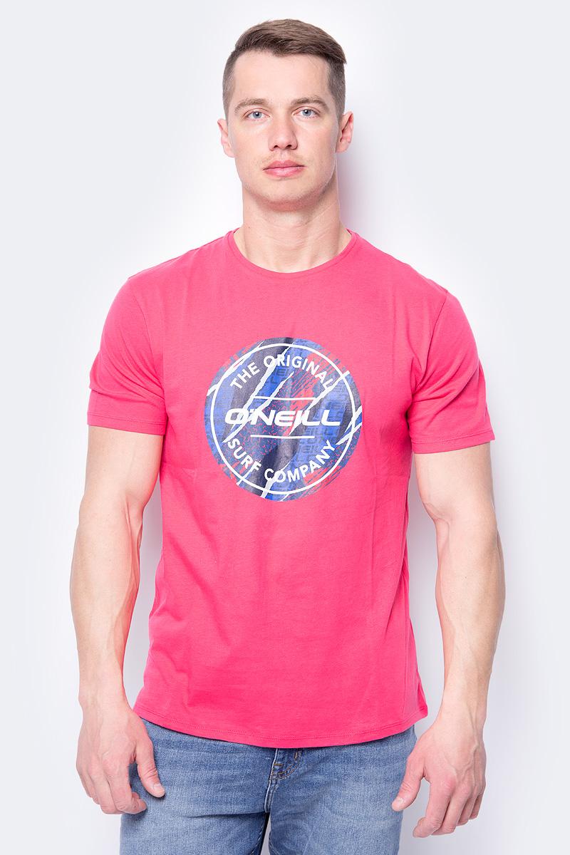 Футболка мужская O'Neill Lm Filler T-Shirt, цвет: розовый. 8A3606-4056. Размер XL (52/54) футболка мужская o neill lm jacks art t shirt цвет голубой 8a3609 5145 размер xl 52 54