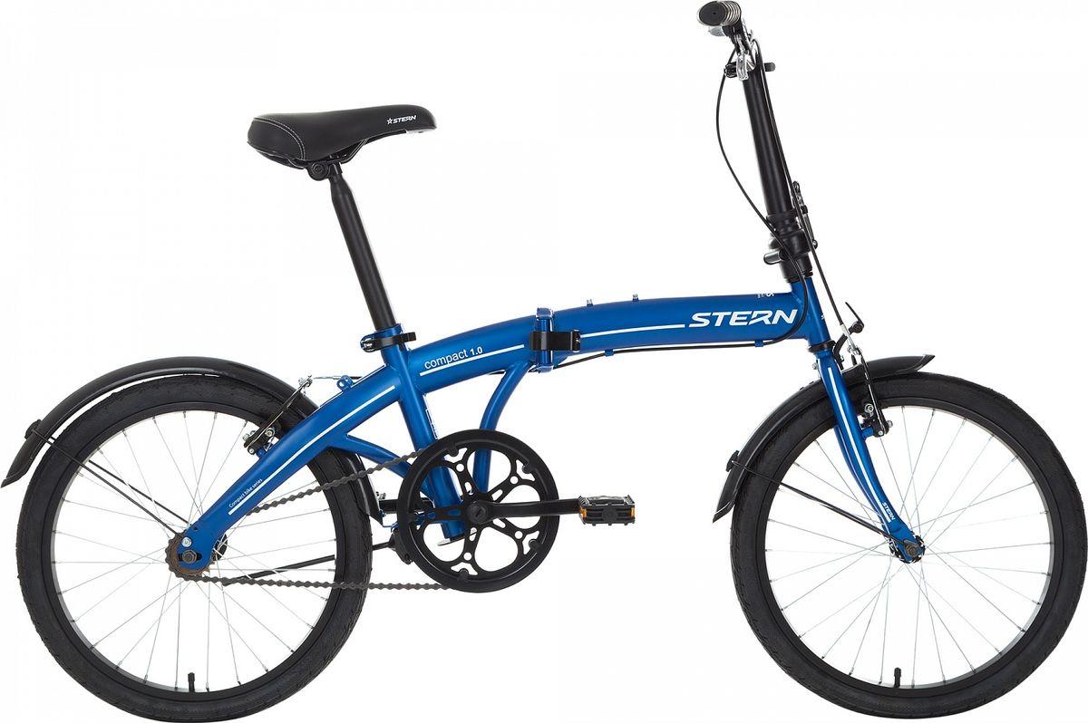 Велосипед складной Stern Compact 1.0 , цвет: синий, белый, колесо 20 stern вынос руля stern
