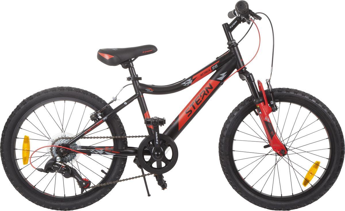Велосипед детский Stern Attack, цвет: черный, красный, колесо 20 аккумулятор для шуруповерта stern в москве