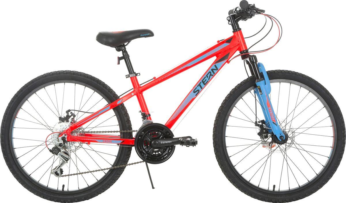 Велосипед детский Stern Attack, цвет: красный, синий, колесо 24 stern велосипед горный stern dynamic fs 1 0 26