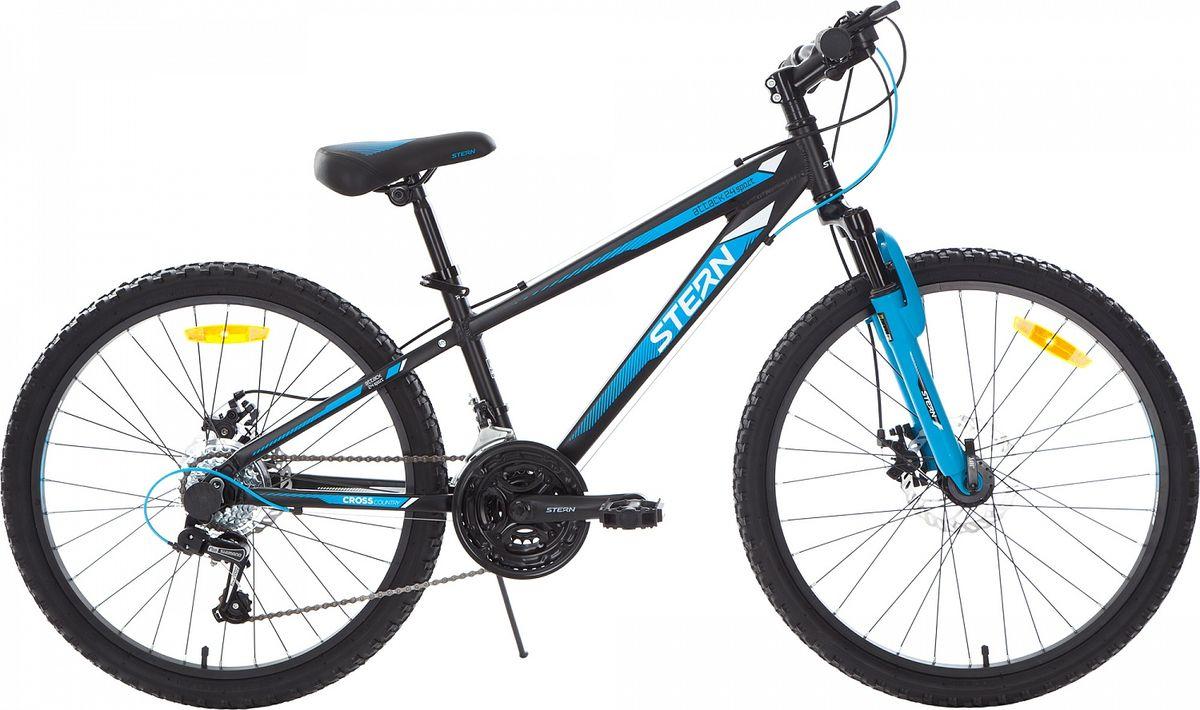 Велосипед детский Stern Attack, цвет: черный, синий, колесо 24 stern велосипед горный stern dynamic fs 1 0 26