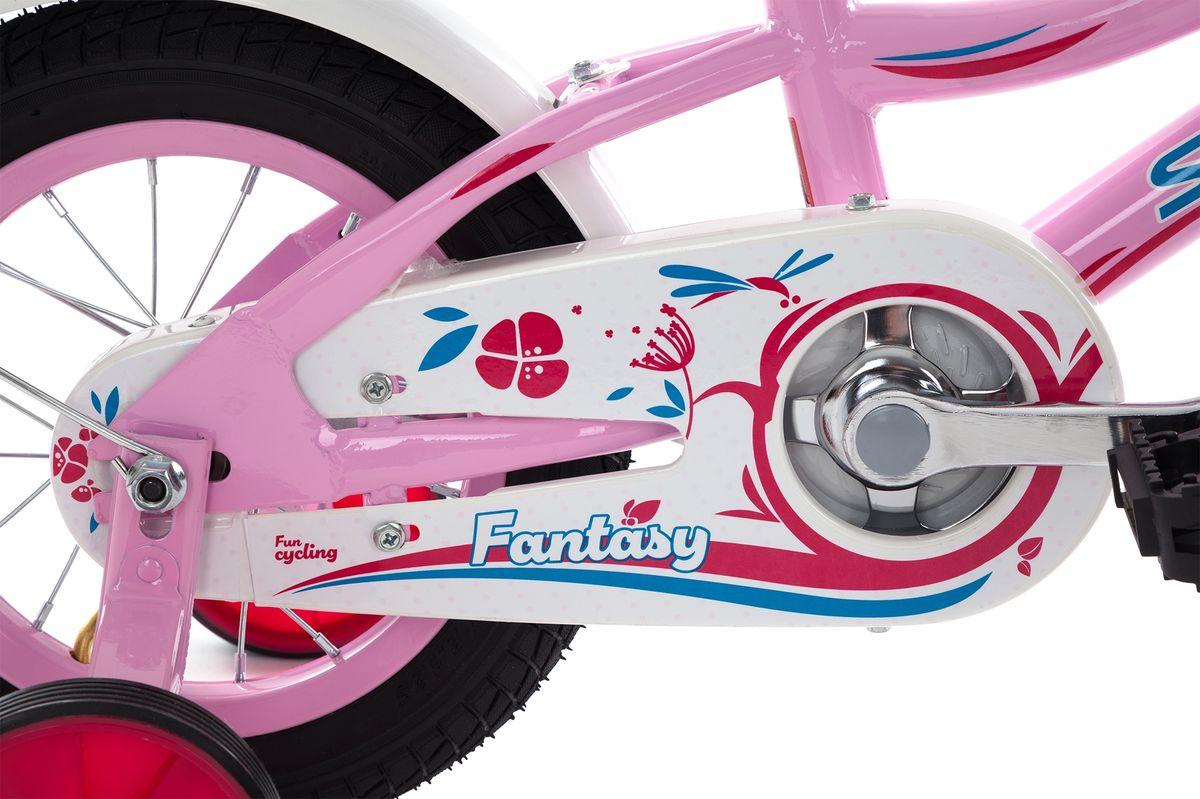 Детский велосипед с прочной рамой и колесами размеров 12 дюймов подойдет девочкам младшего возраста. Веселый и яркий дизайн приведет в восторг маленьких велосипедисток. Модель для девочек 3-4 лет ростом 89-114 см.На велосипед установлены ограничитель поворота руля и защита цепи.В комплект входят переднее и заднее крылья, а также съемные боковые колеса размеров для обучения езде. В модели предусмотрена надежная стальная рама Hi-TEN STEEL.