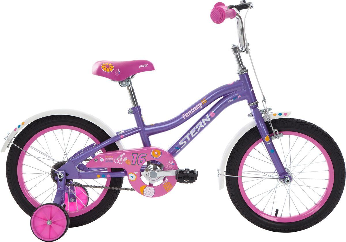 Велосипед детский Stern Fantasy, цвет: розовый, фиолетовый, колесо 16 велосипед stern fantasy 20 2017