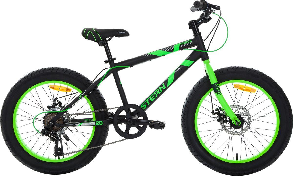 Велосипед детский Stern Force, цвет: черный, зеленый, колесо 20 аккумулятор для шуруповерта stern в москве