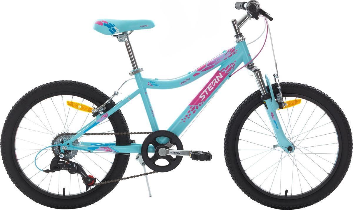 Велосипед детский Stern Leeloo, цвет: голубой, розовый, колесо 20 аккумулятор для шуруповерта stern в москве