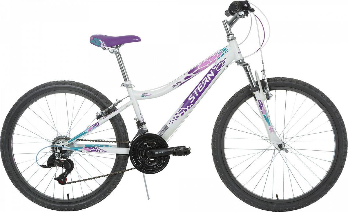Велосипед детский Stern Leeloo, цвет: белый, фиолетовый, колесо 24 аккумулятор для шуруповерта stern в москве
