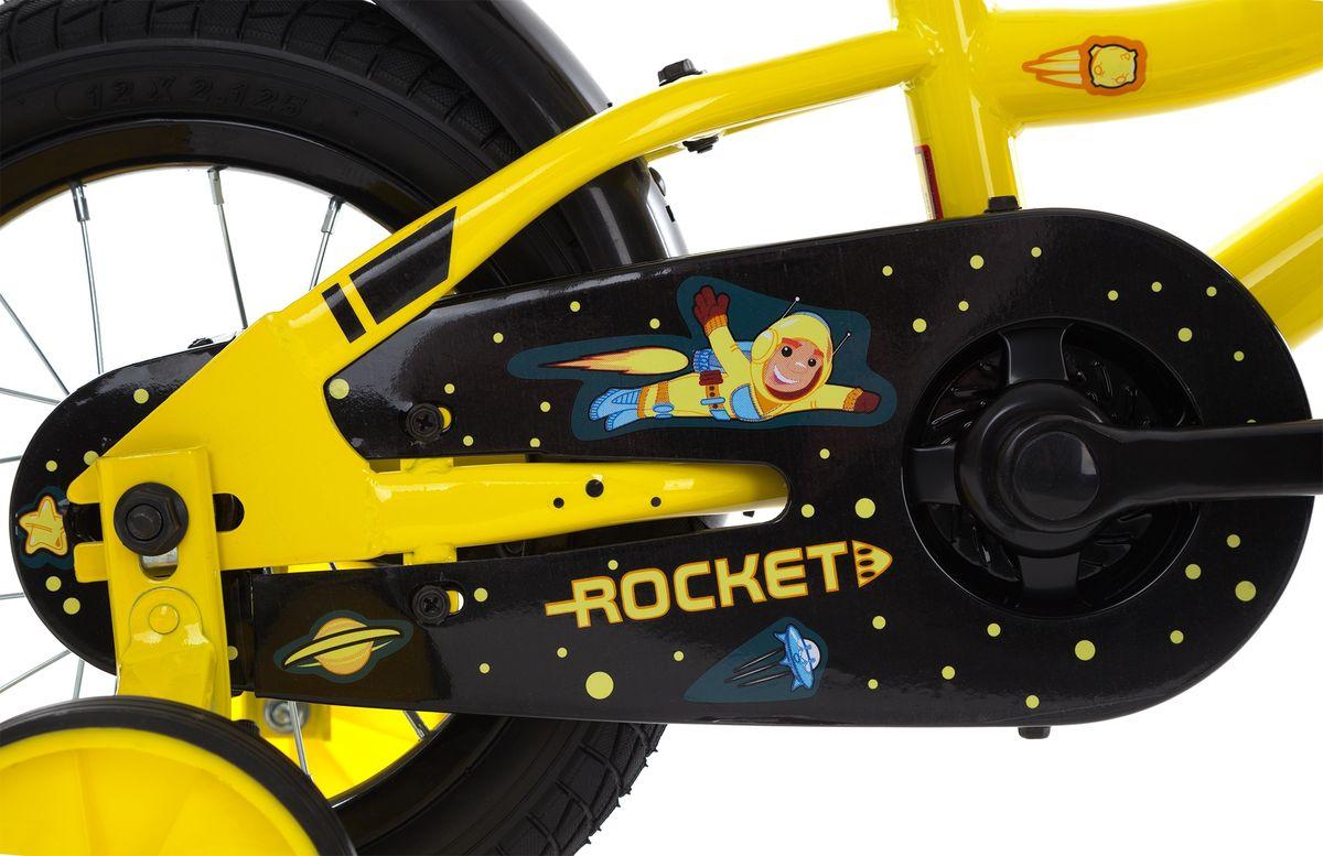Детский велосипед с прочной рамой и колесами размеров 12 дюймов подойдет ребятам младшего возраста. Забавный дизайн приведет в восторг маленьких велосипедистов. Модель для детей 3-4 лет ростом 89-114 см.На велосипед установлены ограничитель поворота руля и защита цепи.В комплект входят переднее и заднее крылья, а также съемные боковые колеса для обучения езде.В модели предусмотрена надежная стальная рама Hi-TEN STEEL.