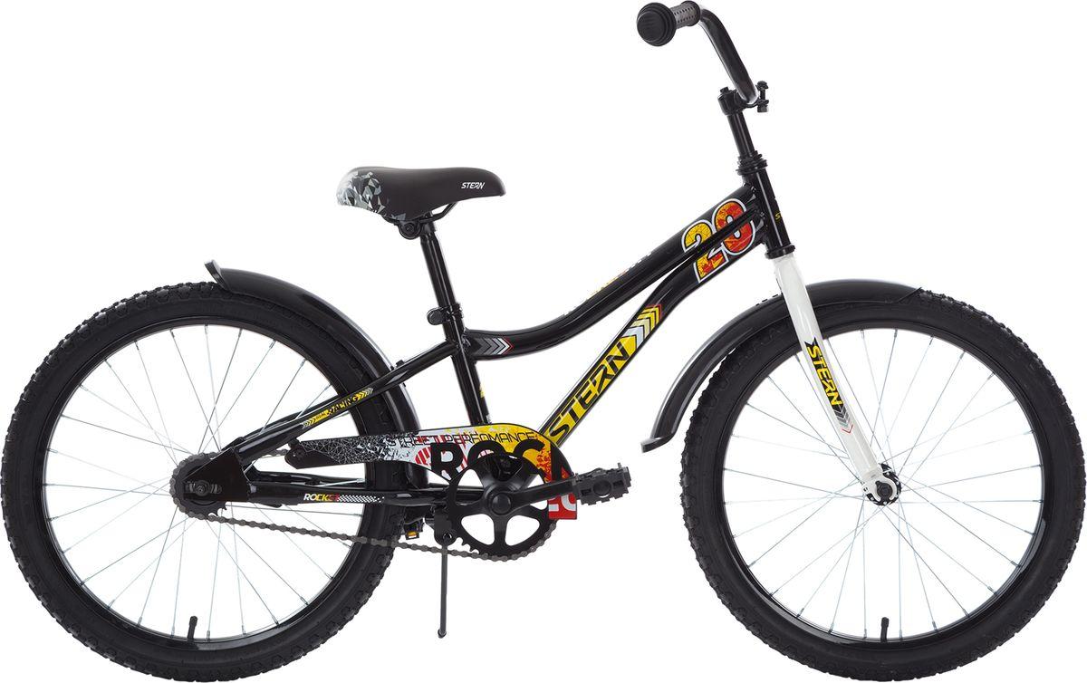 Велосипед детский Stern Rocket, цвет: черный, желтый, колесо 20