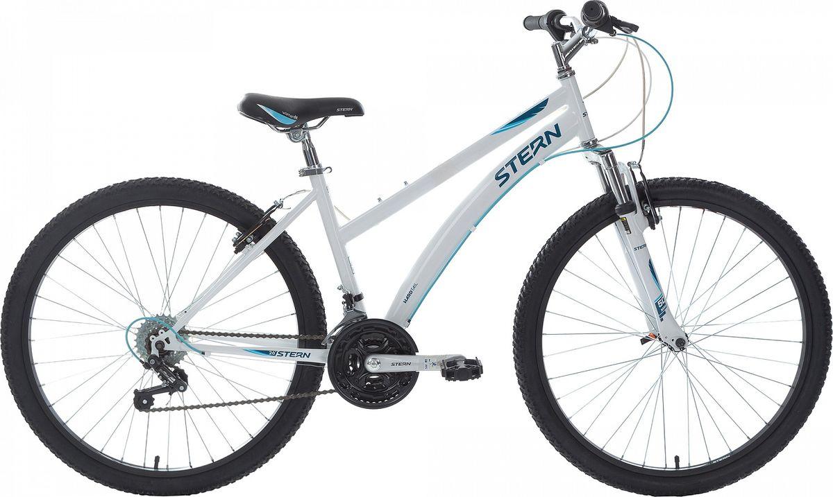 Велосипед горный Stern Vega 1.0, цвет: белый, синий, рама 14, колесо 2618VEG11418-скоростная трансмиссия позволяет выбрать оптимальную нагрузку в зависимости от рельефа трассы. Амортизационная вилка с ходом 50 мм гарантирует комфорт во время катания как по ровной дороге, так и по пересеченной местности. Модель с заниженной верхней трубой разработана специально для женщин. Стальная рама Hi-TEN STEEL выдерживает вес до 90 кг. Надежные ободные тормоза типа V-Brake сделают езду безопаснее.