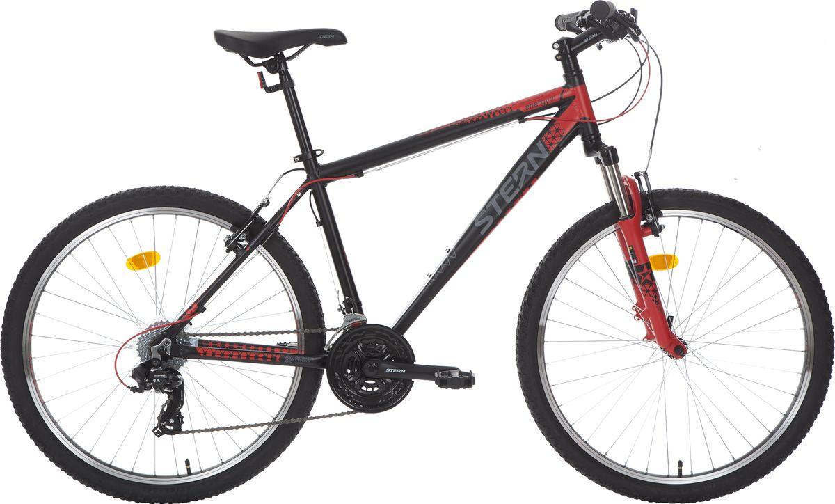 Велосипед горный Stern Energy 1.0, цвет: черный, красный, рама 20, колесо 26 велосипед горный женский stern vega 2 0 26