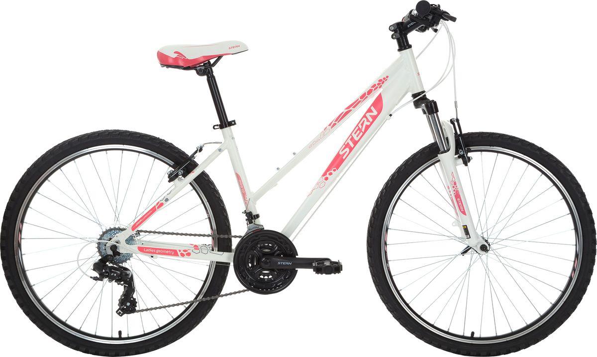 Велосипед горный Stern Mira 1.0, цвет: белый, розовый, рама 16, колесо 26