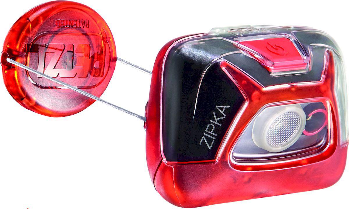 Фонарь налобный Petzl Zipka, LED, цвет: красный
