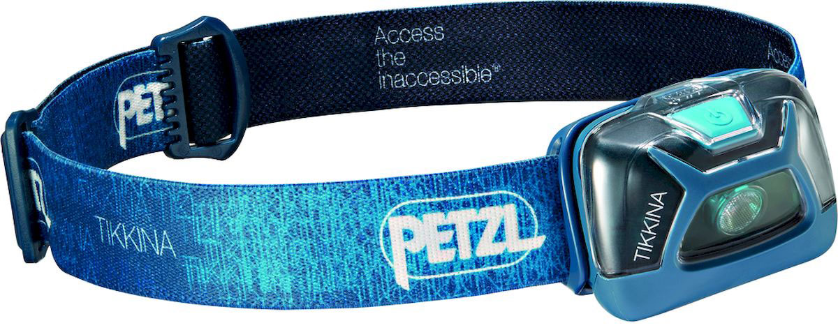 Фонарь налобный Petzl Tikkina, LED, цвет: синий фонари чингисхан фонарь налобный