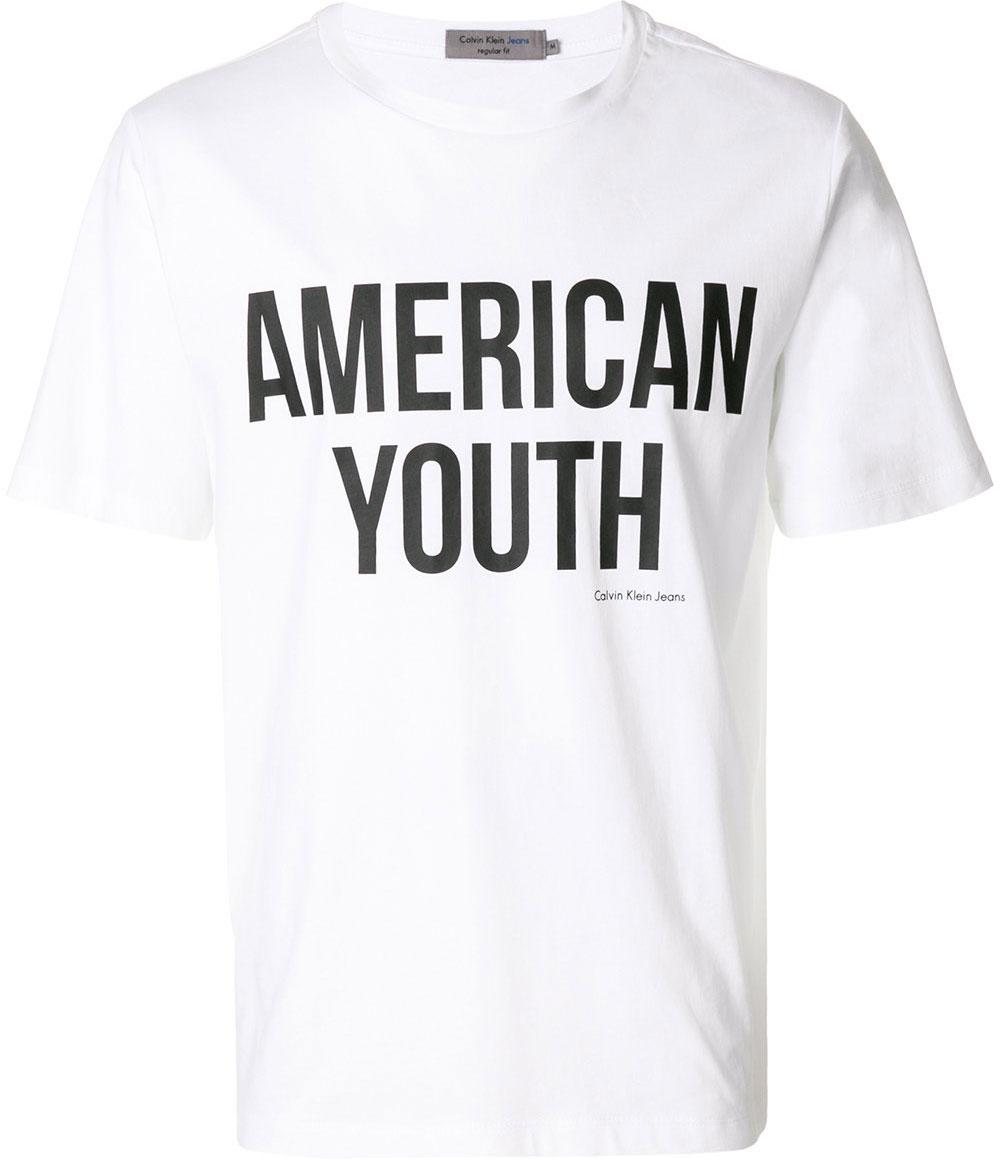 Футболка мужская Calvin Klein Jeans, цвет: белый. J30J306893_1120. Размер XXL (52/54) куртка мужская calvin klein jeans цвет синий j30j305551 4020 размер xxl 52 54