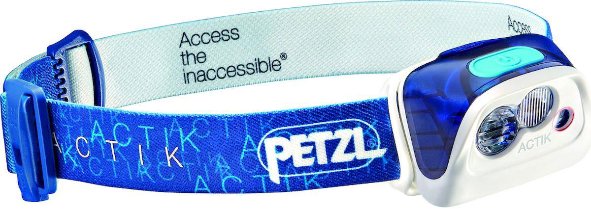 Фонарь налобный Petzl Actik, LED, цвет: синий