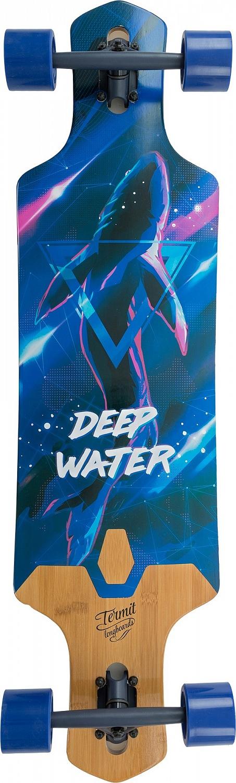 Лонгборд Termit Drop-Through Long Board, цвет синий, черный
