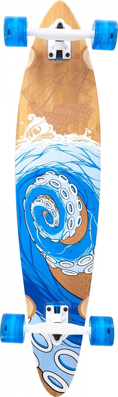 Лонгборд Termit Pin Tail Long Board, цвет: синий, бежевый
