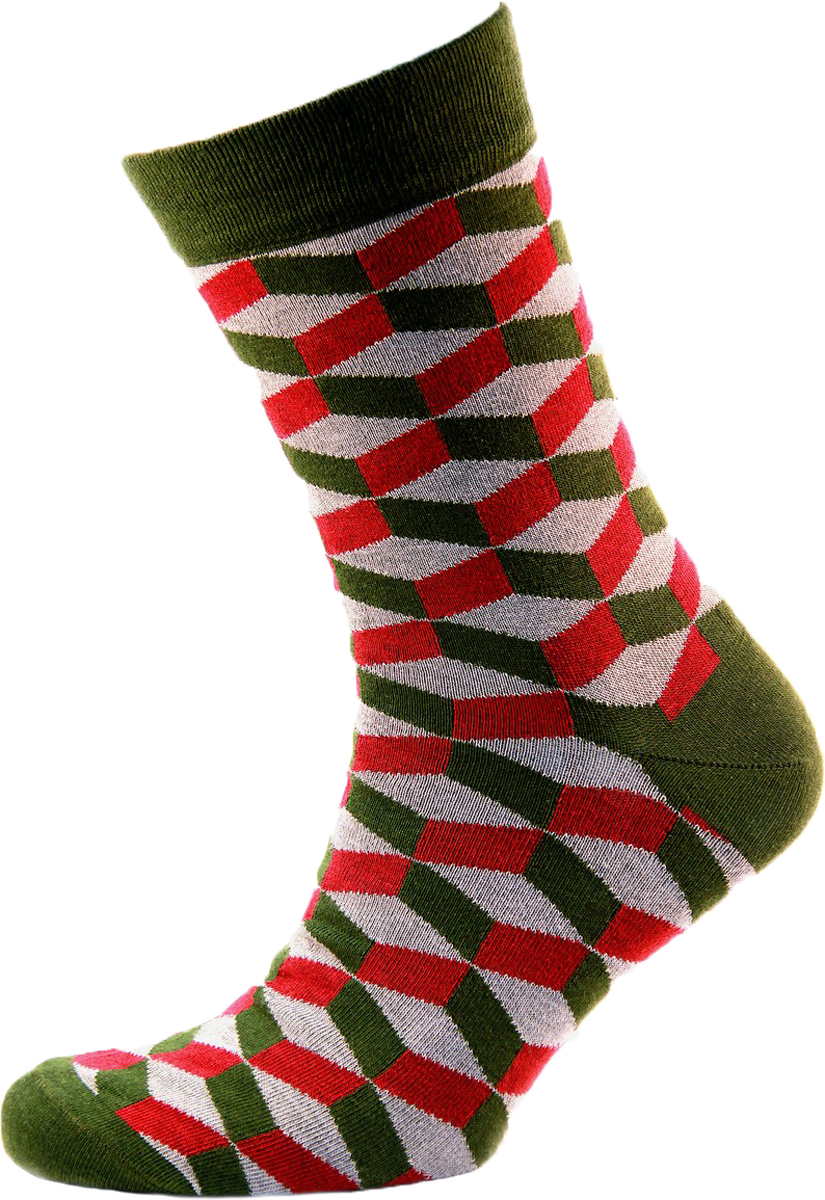 Носки мужские Гамма, цвет: зеленый. С794. Размер 43/45