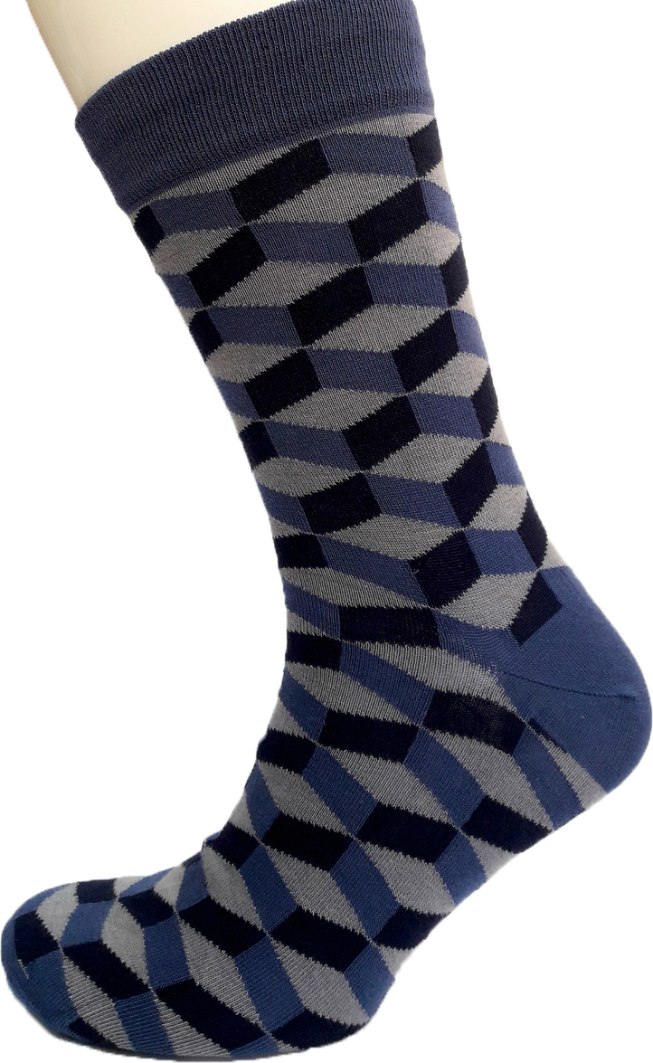 Носки мужские Гамма, цвет: серый, синий, черный. С794. Размер 43/45