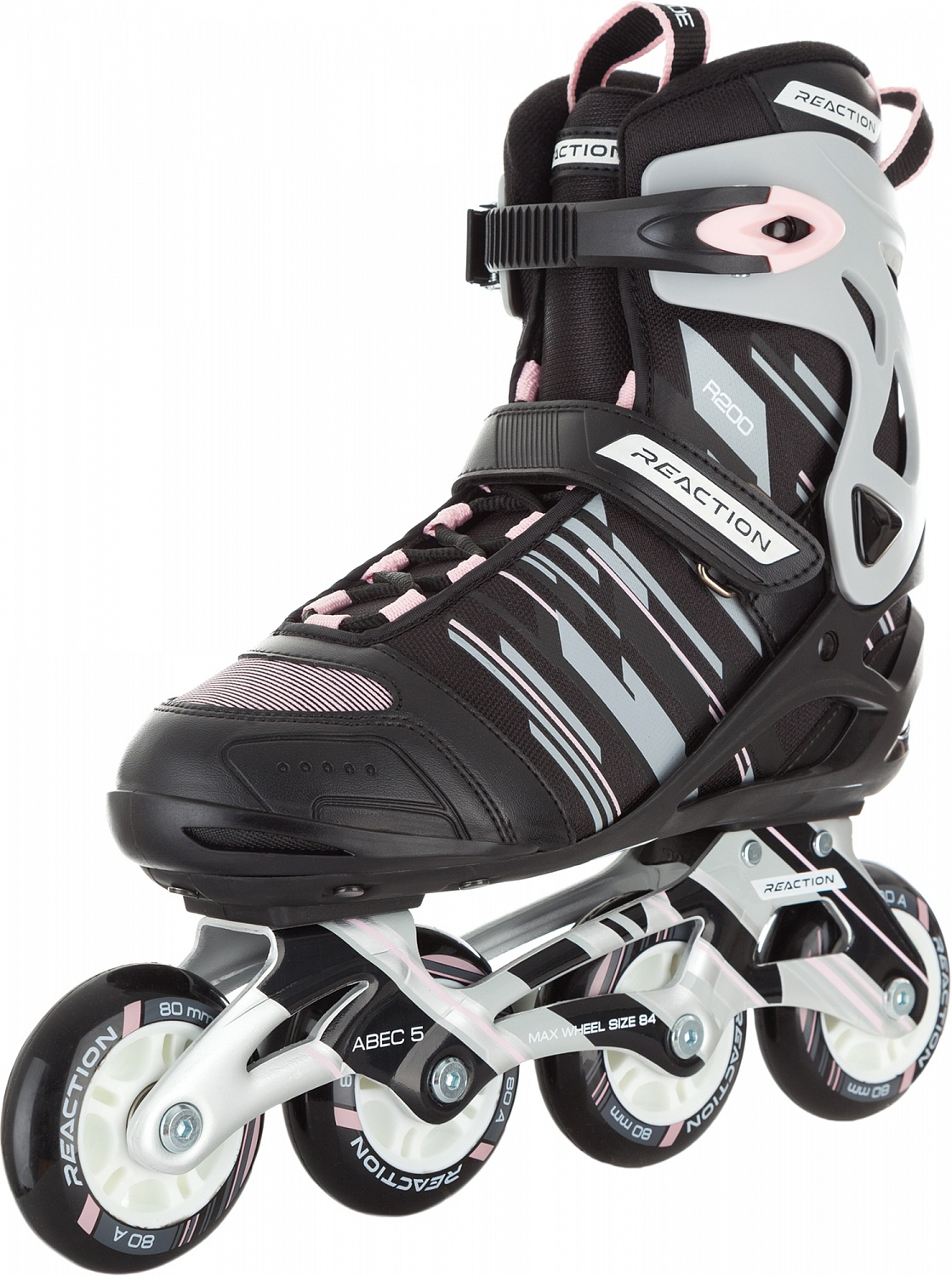 Коньки роликовые женские Reaction 208 W Women's Inline Skates, цвет: серый, розовый. Размер: 42 professionales road show rx4 roller skates four wheel skates inline skates ice hockey skates for adulto