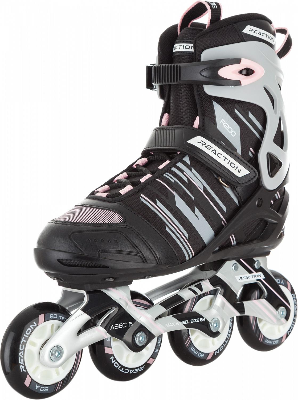 """Коньки роликовые женские Reaction """"208 W Women's Inline Skates"""", цвет: серый, розовый. Размер: 40"""