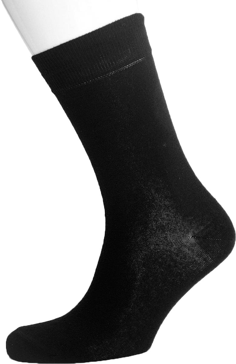 Носки мужские Гамма, цвет: черный. С841. Размер 43/45С841Мужские демисезонные носки, гладкие однотонные Гамма выполнены из качественного материала.