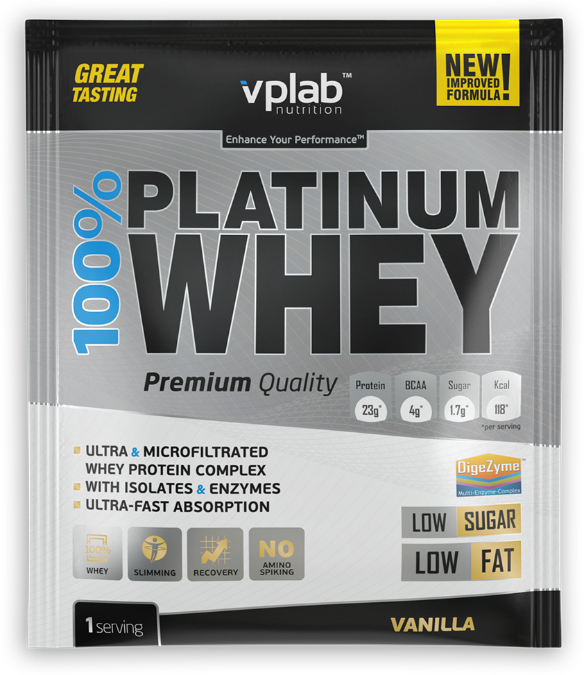 Протеин VP Laboratory 100% Платинум Вей, ваниль, 30 г натура биссе с с витаминный комплекс концентрата сывороточного