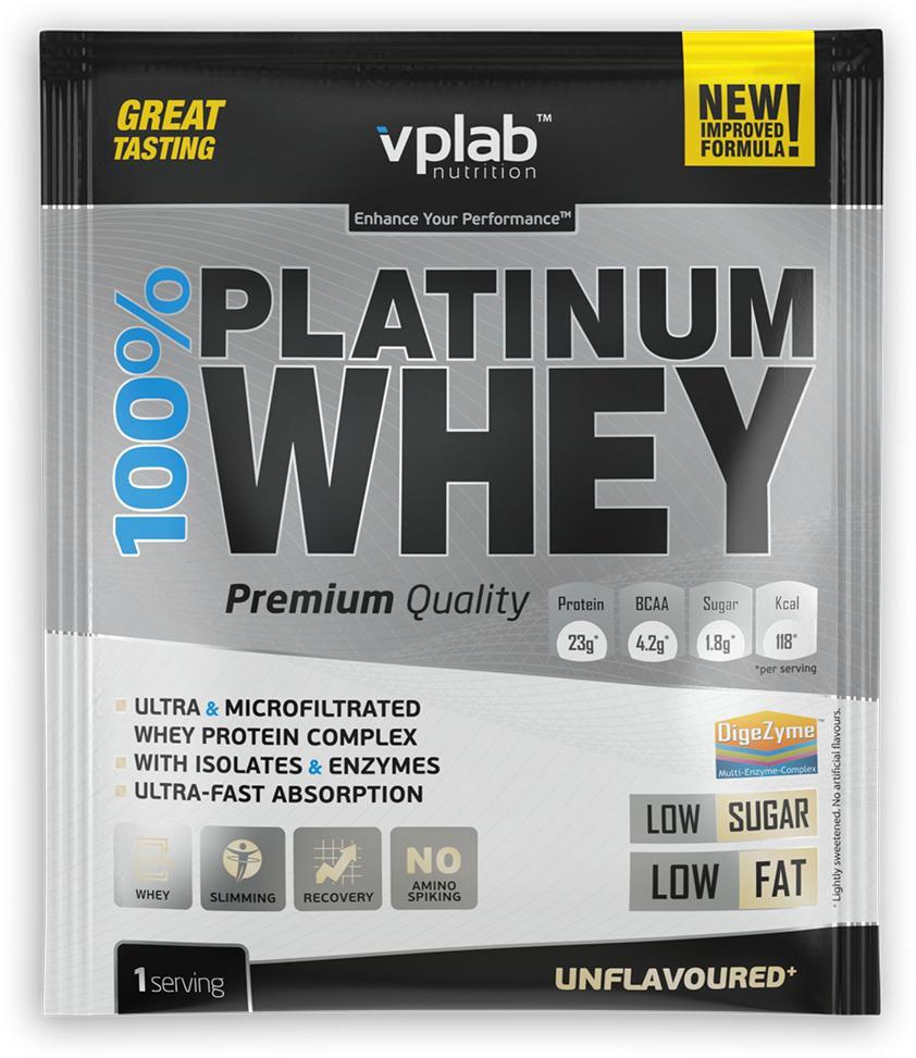 Протеин VP Laboratory 100% Платинум Вей, без вкуса, 30 г натура биссе с с витаминный комплекс концентрата сывороточного