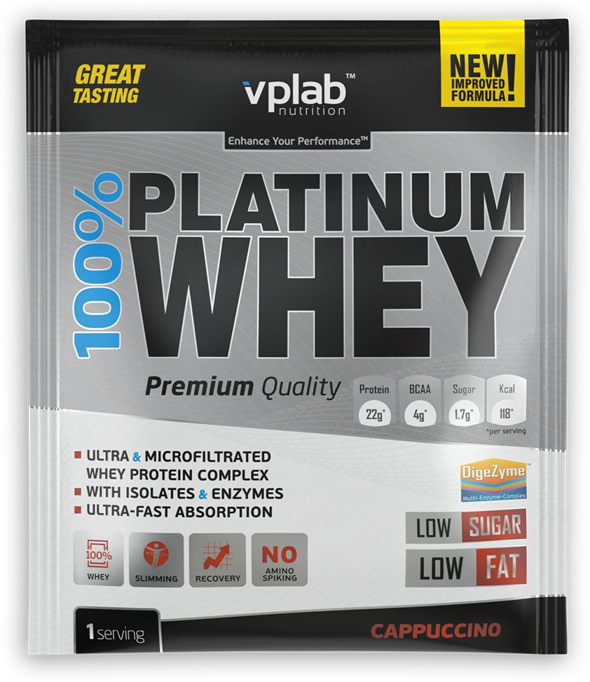 Протеин VP Laboratory 100% Платинум Вей, капучино, 30 г натура биссе с с витаминный комплекс концентрата сывороточного