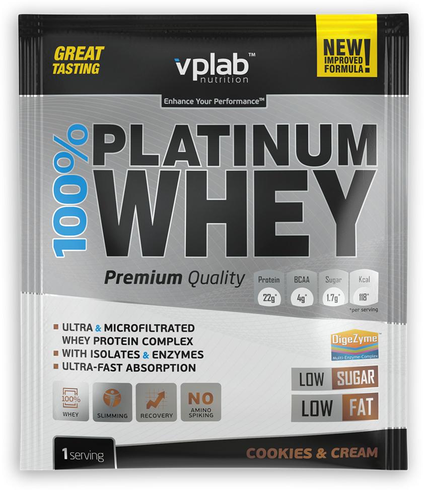 """Протеин VP Laboratory """"100% Платинум Вей"""", печенье, крем, 30 г"""