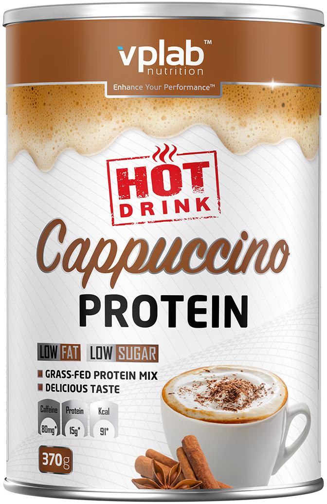 "Протеиновая смесь VP Laboratory ""Хот Протеин Капучино"", с кофеином, 370 г"
