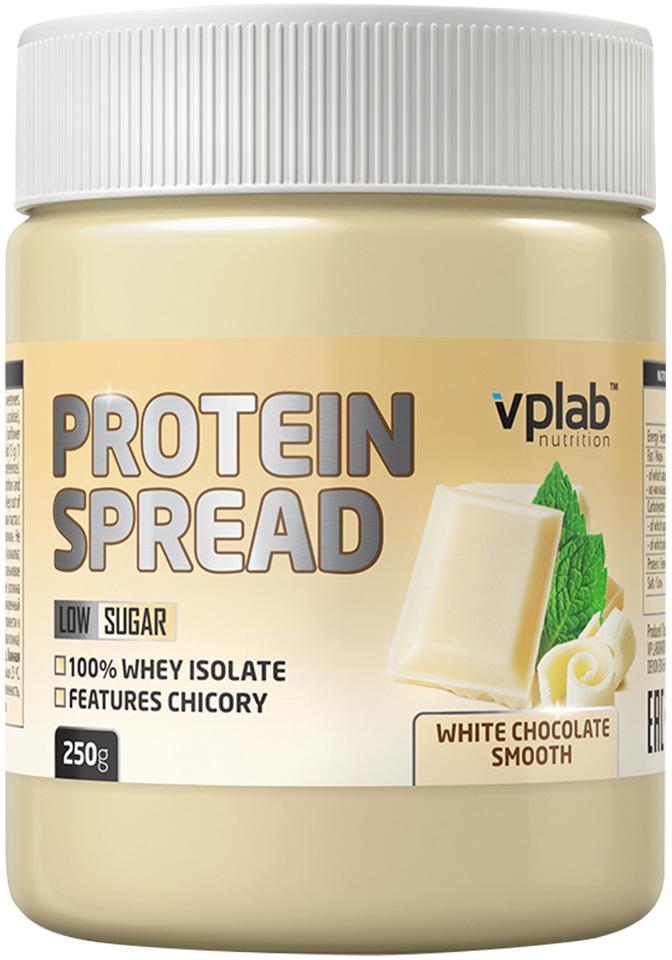 Шоколадная паста VP Laboratory Протеин Спред, белый шоколад, 250 гVP56913Высокобелковая шоколадная паста. 21% белка на порцию; Менее одного грамма сахара на порцию; Инулин и цикорий в составе. Рекомендации по применению: В качестве вкусного заменителя пищи употребляйте по вашему желанию в любое время дня с любой пищей.Рекомендации по приготовлению: Добавте 15 г (1 столовая ложка) продукта к любому приему пищи по вашему желанию.Рапсовое масло, изолят сывороточного протеина, Е965 (мальтитол), Е953 (изомальт), Е968 (эритритол), Е955 (сукралоза), инулин, паста из фундука (7%), обезжиренный порошок какао, полидекстроза, кусочки фундука (4%), пальмовое масло, расворимое волокно кукурузы, цикорий, Е322 (лецитин), ванильный экстракт.