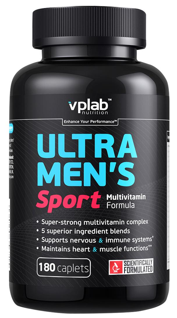 """Витаминно-минеральный комплекс VP Laboratory """"Ультра Менс Спорт Мультивитамин Формула"""", 180 капсул"""