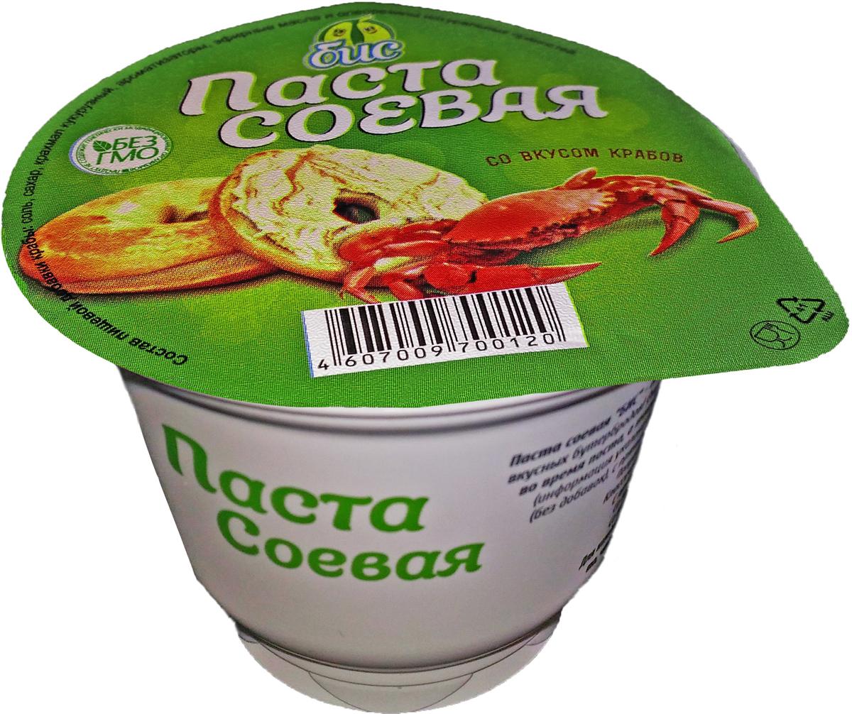 Боб и Соя Паста соевая со вкусом краба 25%, 250 г боб и соя крем соевый сметанный 10
